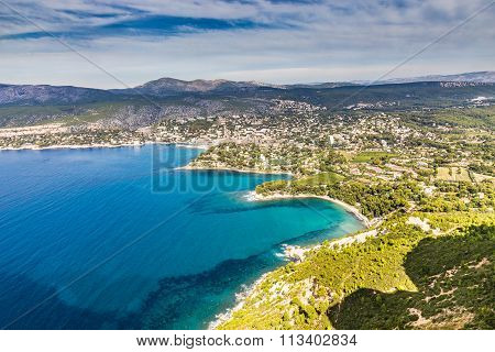 Cassis City And Surrounding Nature -cassis,france