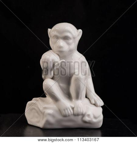ceramic monkey isolated