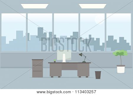 Table in office room