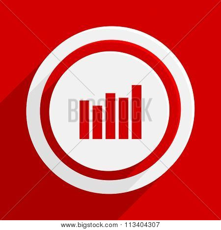 graph red flat design modern vector icon for web and mobile app