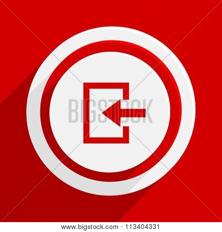enter red flat design modern vector icon for web and mobile app