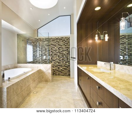 Spacious Bathroom With Tub
