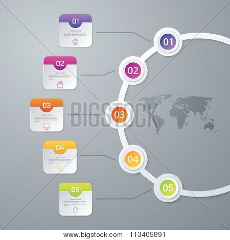 Vector illustration infographics timeline