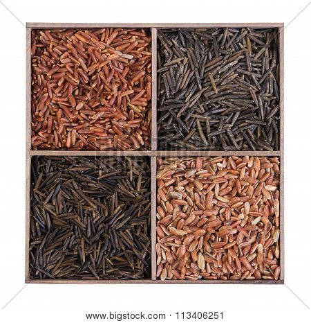 Unpolished Brown Wild Rice.