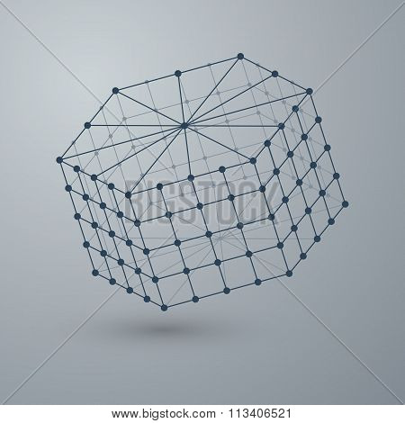 Vector illustration of a polygonal shape