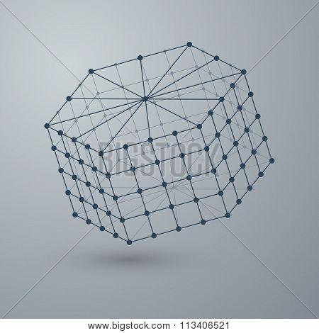 Vector illustration of a polygonal shape