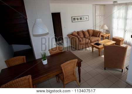 Modern, Bright, Clean, Living Room  In A  House