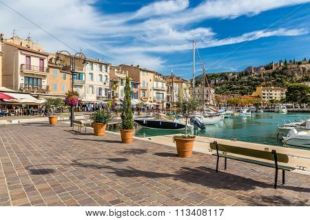 Buildings And Boats In City Center-cassis,france