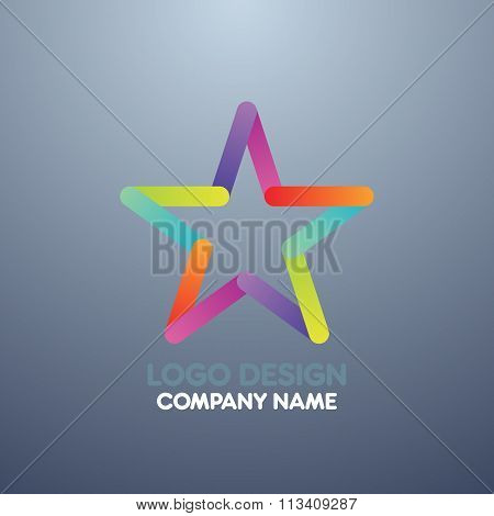 Vector illustration of logo design star