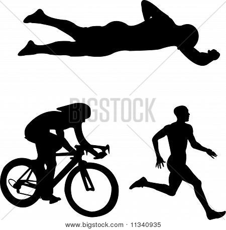 Triatlón - vector