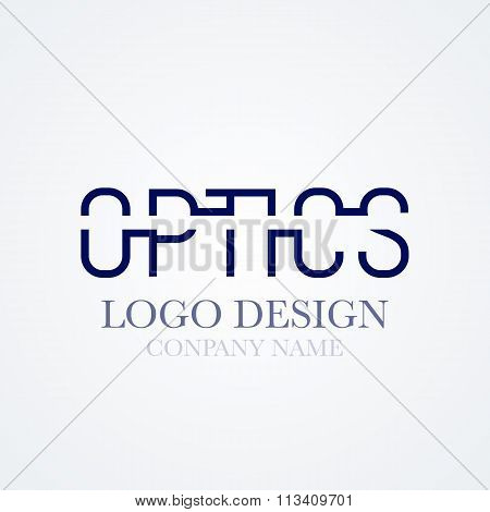 Vector illustration of logo design optics
