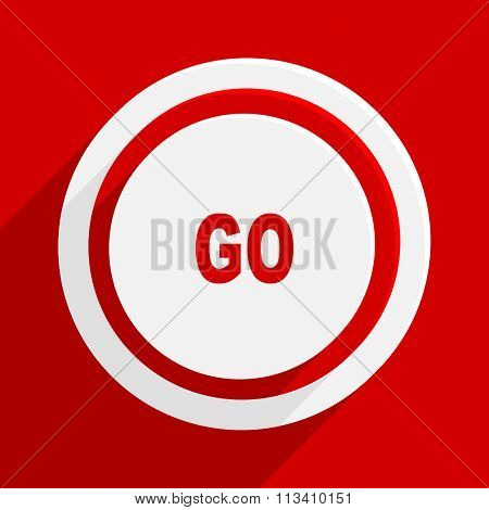go red flat design modern vector icon for web and mobile app