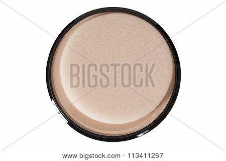 Make-up. Powder Box Top View
