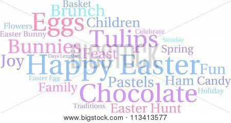 Happy Easter Word Cloud