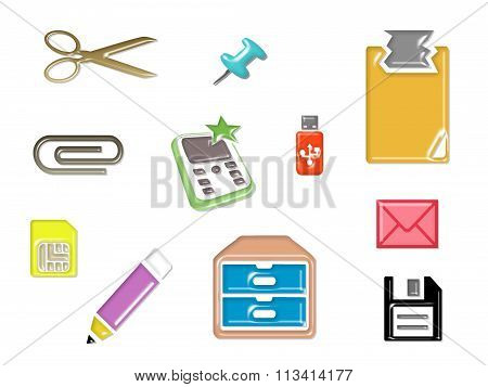 Stationery Set Icon