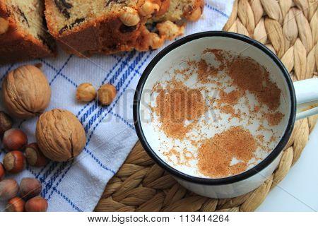 Cinnamon Milk and Cake