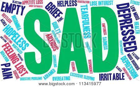 Sad Word Cloud