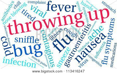Throwing Up Word Cloud