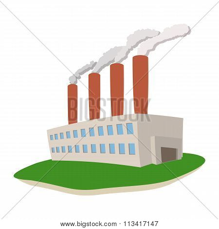 Fumes coming out of power plant
