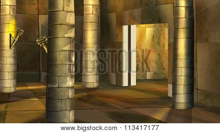 Ancient Egyptian temple interior. Image 2