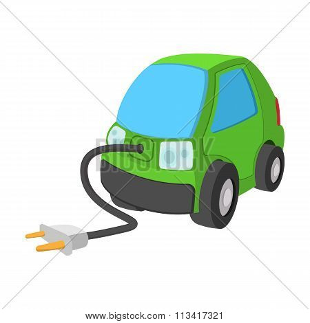Electric car cartoon icon