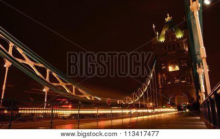 Panning shot at Tower bridge