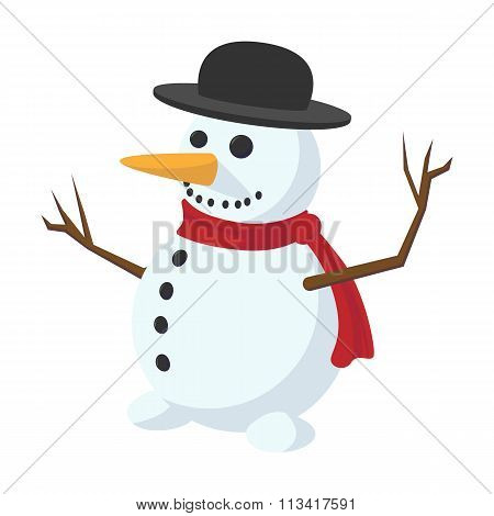 Snowman cartoon icon