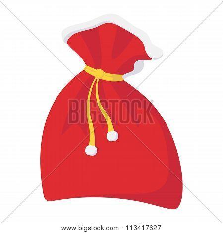 Christmas sack cartoon icon
