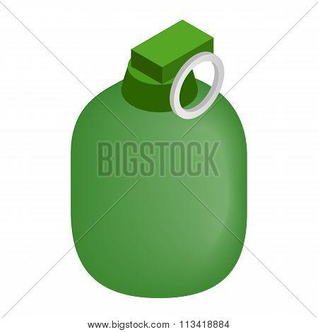 Hand grenade 3d isometric icon
