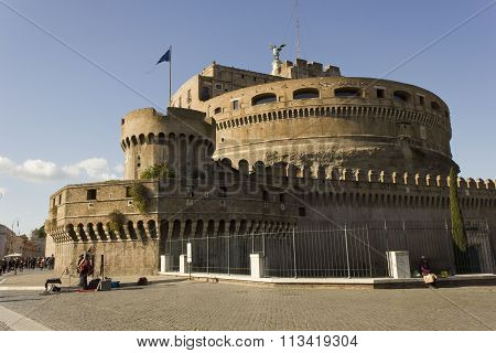 Overview Of Castel Sant'angelo In Rome