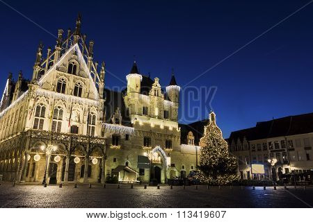 Town Hall In Mechelen In Belgium
