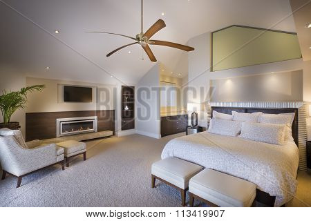 Spacious Bedroom At Daytime