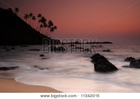 Sunset At Cola Beach, Goa