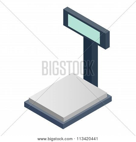 Scales for weighing isometric 3d icon