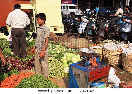 Food Stall At Goan Street Market