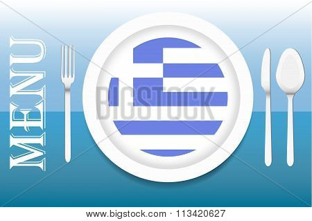 Ready for serving Greek cuisine vector