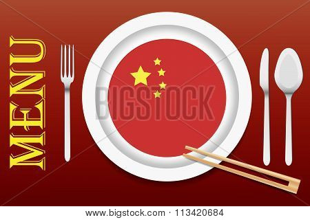 Ready For Serving Chinese Cuisine Vector