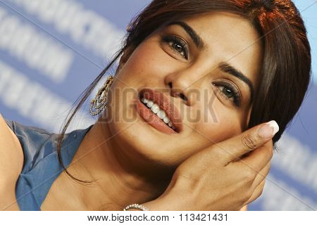 BERLIN, GERMANY - FEBRUARY 10: Priyanka Chopra Roma attends the 'Don - The King Is Back' Press Conference during of the 62 Berlin Festival at the Grand Hyatt on February 10, 2012 in Berlin, Germany.