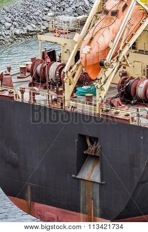 Lifesaving Boat On Tanker