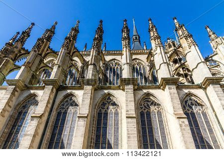 Side Of St.barbara's Church (cathedral)-kutna Hora