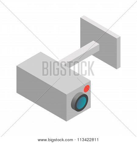 Surveillance camera  isometric 3d icon