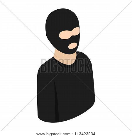 Man in a mask isometric 3d icon