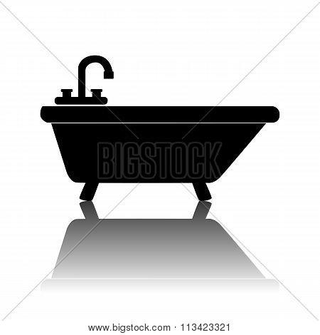 Black bathtub Icon