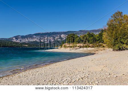 Lakeside Of Sainte Croix Du Verdon Lake,france