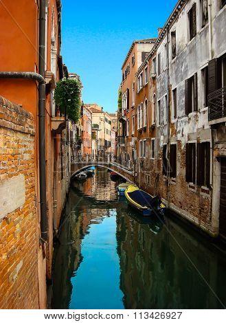 Beautiful View Of The Bridge Over Venetian ?anal