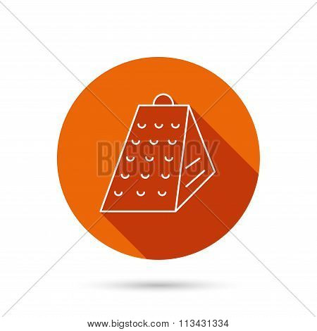 Grater icon. Kitchen tool sign.