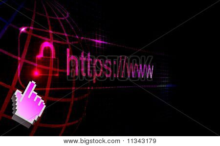 https protected web page