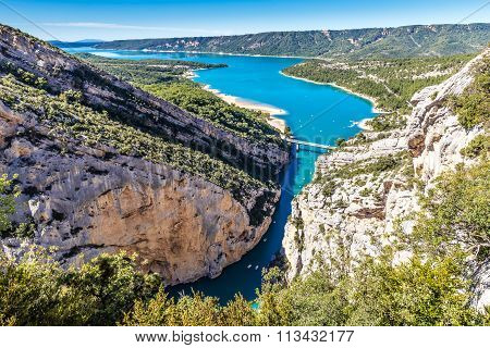 Gorges Du Verdon,bridge,sainte Croix Lake-france