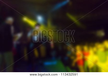 Blur background of people at the concert
