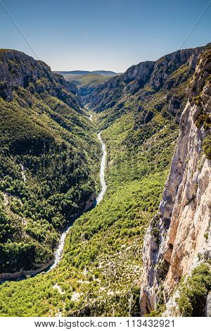 Gorges Du Verdon Canyon Between Two Cliffs-,france